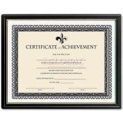 "Lorell® Certificate Of Achievement, 31885, 9-1/2"" X 12"", Black"