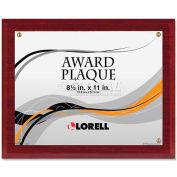 """Lorell® Award-A-Plaque, 31887, 8-1/2"""" X 11"""", Mahogany"""