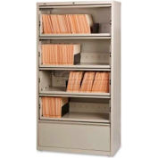 """Lorell 5-Drawer Lateral File, LLR43512, 36""""W, Putty"""
