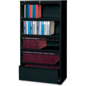 """Lorell 5-Drawer Lateral File, LLR43513, 36""""W, Black"""