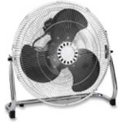 """Lorell LLR44554 Floor Fan, 18"""" DIA., 3-Speed, Adjustable Tilt Head, Black"""