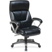 Lorell Executive Eco Chair, LLR52121, Leather, Black