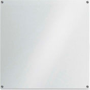 "Lorell Glass Dry Erase Board, Frost Glass, Frameless, 42""W x 42""H"
