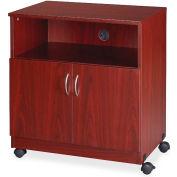 "Lorell® Mobile Machine Stand w/Shelf, 28""x19-3/4""x30-1/2"", Mahogany"