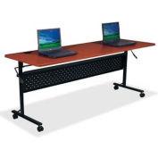 "Lorell Flipper Training Table, LLR60667, 72""L x 24""W x 29-1/2""H, Cherry"