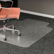 "Lorell® Medium Pile Carpet Office Chair Mat with Lip, 53""L x 45""W, 0.5"" Thick, Clear"