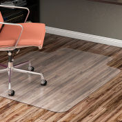 """Lorell® Office Chair Mat for Hard Floor - 60""""L x 46""""W with 12"""" x 25"""" Lip - Straight Edge -Clear"""