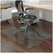 "Lorell® Hard Floor Office Chair Mat, 60""L x 46""W, Clear"