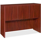 "Lorell® 69000 Series Hutch With Doors, 48""W x 17""D x 36""H, Mahogany"