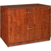 """Lorell® 2-Drawer Lateral File - 35""""W x 22""""D x 29-1/2""""H - Cherry - Essentials Series"""