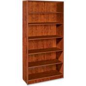 "Lorell® 69000 Series 6-Shelf Bookcase, 36""W x 12-1/2""D x 72""H, Cherry"