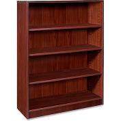 "Lorell® 69000 Series 4-Shelf Bookcase, 36""W x 12-1/2""D x 48""H, Mahogany"