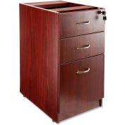"Lorell 69000 Series Box/Box/File Fixed Pedestal, LLR69603, 16""W x 22""D x 28-1/4""H, Mahogany"