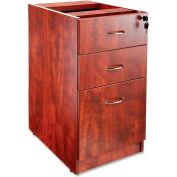 "Lorell 69000 Series Box/Box/File Fixed Pedestal, LLR69604, 16""W x 22""D x 28-1/4""H, Cherry"