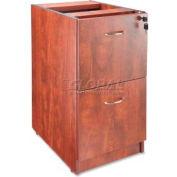 "Lorell 69000 Series File/File Fixed Pedestal, LLR69606, 16""W x 22""D x 28-1/4""H, Cherry"