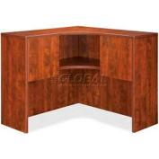 "Lorell® Corner Hutch - 41""W x 41""D x 36""H - Cherry - Essentials Series"