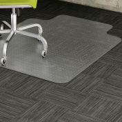 """Lorell Low Pile Office Chair Mat, LLR82820, 45""""W x 53""""L, 12""""L x 15""""W Lip, Clear"""