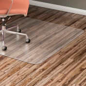 "Lorell Office Chair Mat for Hard Floor - 36""W x 48""L - Straight Edge - Clear"