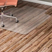 """Lorell Office Chair Mat for Hard Floor -  45""""W x 53""""L with 25"""" x 12"""" Lip - Straight Edge - Clear"""