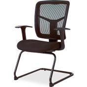 "Lorell® Mesh Guest Chair, 27""W x 27-3/4""D x 41""H, Black Fabric Seat/Mesh Back"