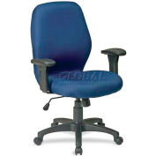 "Lorell® High Performance Ergonomic Chair, 27-1/4""W x 25-1/2""D x 41-1/2""H, Blue"