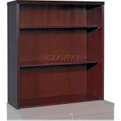 "Lorell® 88000 Series 3-Shelf Stack-On Bookcase, 36""W x 13""D x 39""H, Mahogany"