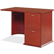 "Lorell® 9000 Series Right Return, 42""W x 24""D x 29""H, Mahogany"