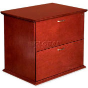 "Lorell® 9000 Series 2-Drawer Lateral File, 33""W x 29""D x 24""H, Mahogany"