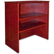 """Lorell® 9000 Series Bookcase Hutch For Lateral File, 33""""W x 16""""D x 36-1/2""""H, Mahogany"""