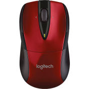 "Logitech Wireless Mouse, 910002697, 2-1/2"" X 4-1/2"" X 1-7/8"", Black/Red"