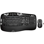 "Logitech MK550 Keyboard and Mouse, LOG920-002555, 19"" x 7-5/8"" x 1"", Wireless Connectivity, Black"