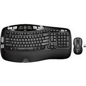 Logitech 920-002555 MK550 Wireless Wave Keyboard and Mouse Combo, Black
