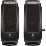 Logitech 980-000012 S120 Slim Mini Stereo Speakers, Black