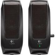 Logitech 980-000012 S120 Slim Mini Stereo Speakers, Black