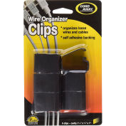 "Master® Wire Clips, 00204, Self Adhesive Backing, 1-1/4"" X 3/4"" X 1"", 6/Pk, Black"