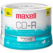 Maxell CD Recordable Media, MAX648250, CD-R Media, 48x Speed, 700 MB Capcity