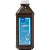 Medline MDS098001Z 3% USP Hydrogen Peroxide, 16 oz. Bottle - Pkg Qty 4