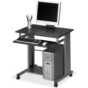 "Mayline Mobile Workstation, 29-3/4""x23-1/2""X29-3/4"", Anthracite"