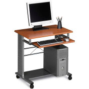 "Mayline Mobile Workstation, 29-3/4""x23-1/2""X29-3/4"", Medium Cherry"