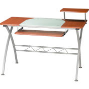 """Safco® Products Eastwinds Vision Computer Desk, 47-1/4""""W x 27""""D x 34""""H, Medium Cherry"""