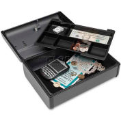 "Steelmaster Premier Cash Box, MMF2217012G2, 11.6""W x 8.5""H x 4.1""H, Charcoal Gray"