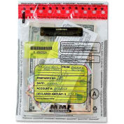 "MMF Tamper-Evident Deposit Bag, MMF2362010N20, 12"" Height x 9"" Width, Clear"