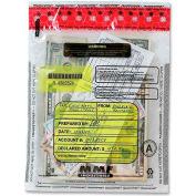 "MMF FRAUDSTOPPER Tamper-Evident Deposit Bag 2362010N20, 9""W x 12""H, Clear, Price per 100 Bags/Box"