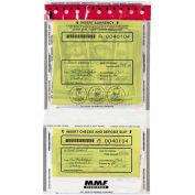"""MMF Tamper-Evident Twin Deposit Bag, MMF2362500N20, 9.50""""W x 17.50""""L x 2.75 mil Thickness, Clear"""