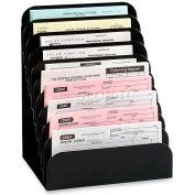 """MMF Cashier Pad Rack 267061004 10 Pockets Steel - 8""""W x 6-3/4""""D x 11""""H, Black"""
