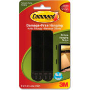 3M Command™ Hanging Strips, Large Picture, Holds 4lbs., 4/PK, BK