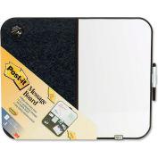"Post-it Bulletin/Dry Erase Board with Black Frame, 22""W x 18""H"