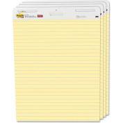 "Post-it Self-Stick Easel Pad - 30 Sheet - Ruled - 25"" x 30.50"" - 4/Carton - Yellow Paper"