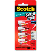 3M Super Glue, Single Use, Pointed Tip, .07oz., 4/PK, Clear