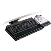 "3M™ Keyboard/Mouse Tray, AKT100LE, 21-3/4"" Track, 19-1/2"" X 10-1/2"", Black"
